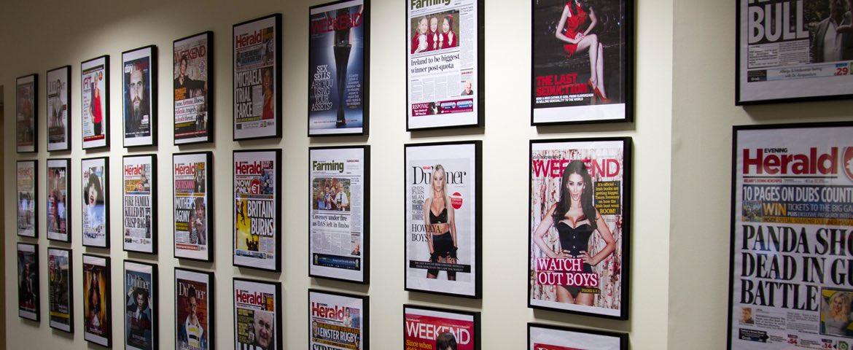 REDNI promo wall